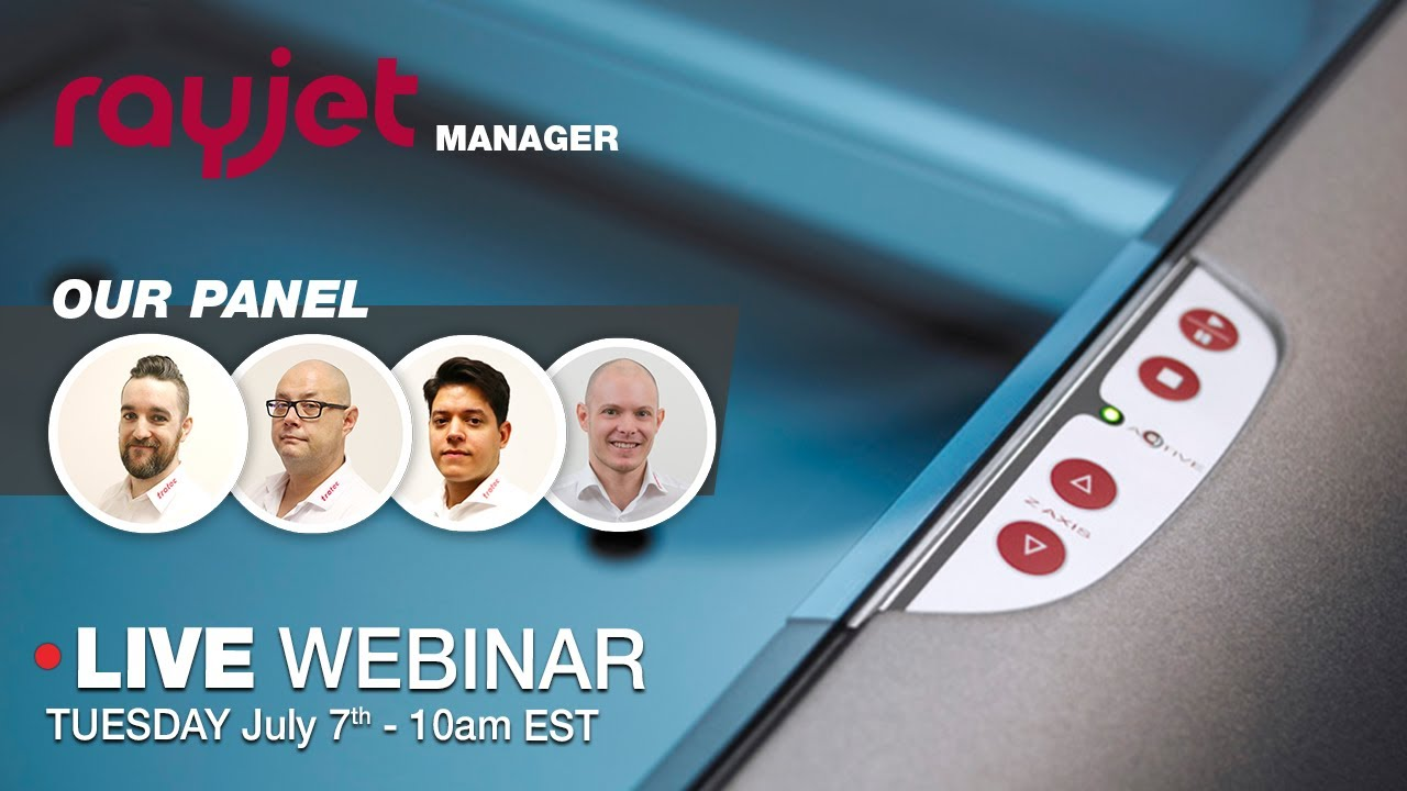 Rayjet Manager Webinar | Tuesday July 7th, 2020 at 10am EST