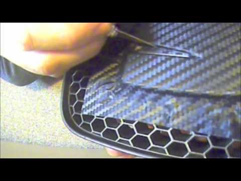 covering seat badge in 3m di noc carbon fibre vinyl youtube. Black Bedroom Furniture Sets. Home Design Ideas