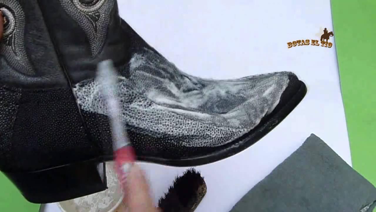 Como limpiar botas en piel de mantarraya original e ...