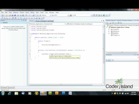 Visual C# Controls Tutorial - TextBox,ListBox and LinkLabel