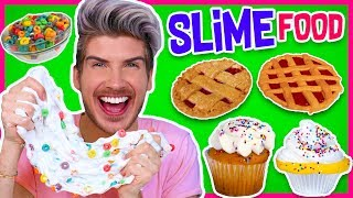 Making FOOD Out Of SLIME! | Froot Loops, Cupcakes, Pie & MORE! thumbnail