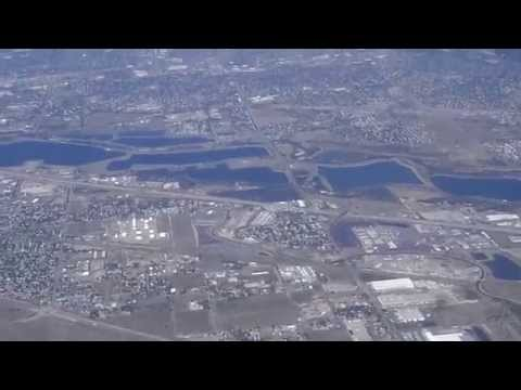 Approach, Pattern, Landing at DEN Denver Airport from GJT, CO