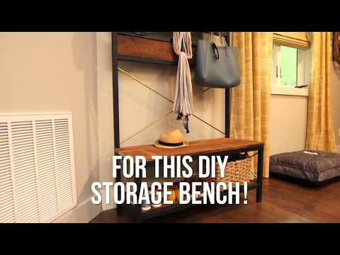 How to Make an Entryway Bench - DIY Network