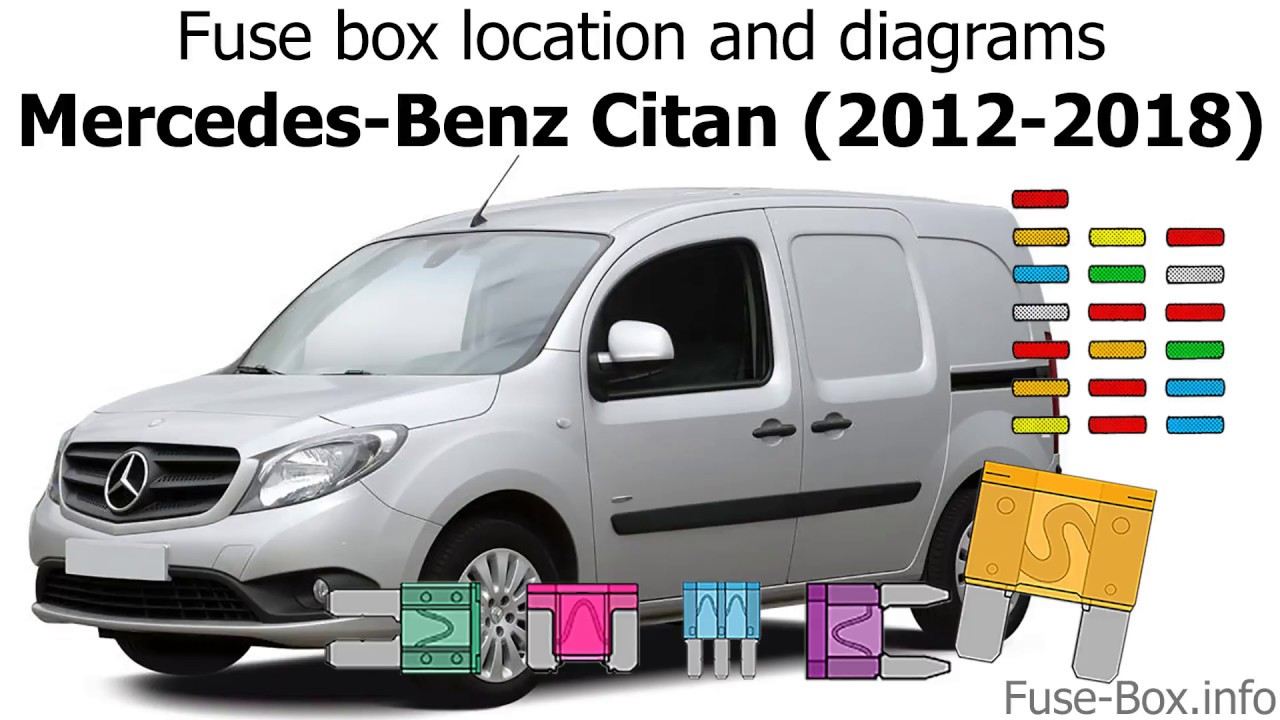 fuse box location and diagrams mercedes benz citan 2012 2018  [ 1280 x 720 Pixel ]