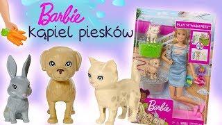 Barbie 🐶 Kąpiel zwierzaków 🐕 Toys Land