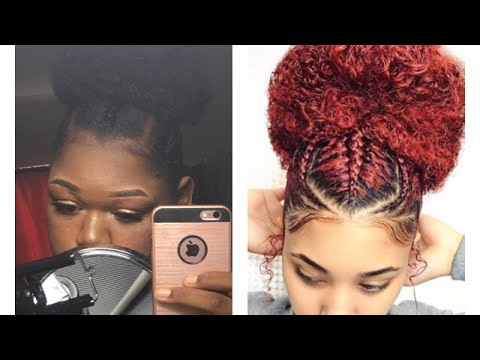 How To Braids And Drawstring Afro Puff Youtube