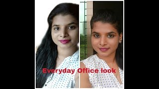 Everyday Office look/ Simple and easy look under 5 minutes