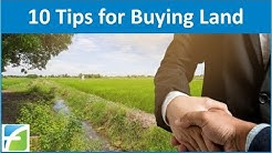 10 Tips for Buying Land