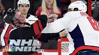 Capitals' Alex Ovechkin knocks out Hurricanes' Andrei Svechnikov in Game 3 | NBC Sports