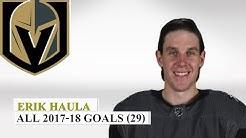 Erik Haula (#56) All 29 Goals of the 2017-18 NHL Season