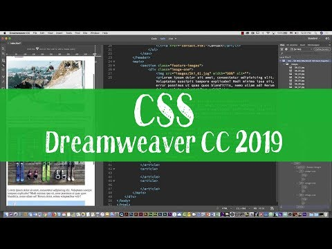 HTML and CSS tutorial with Dreamweaver CC 2019 Part two