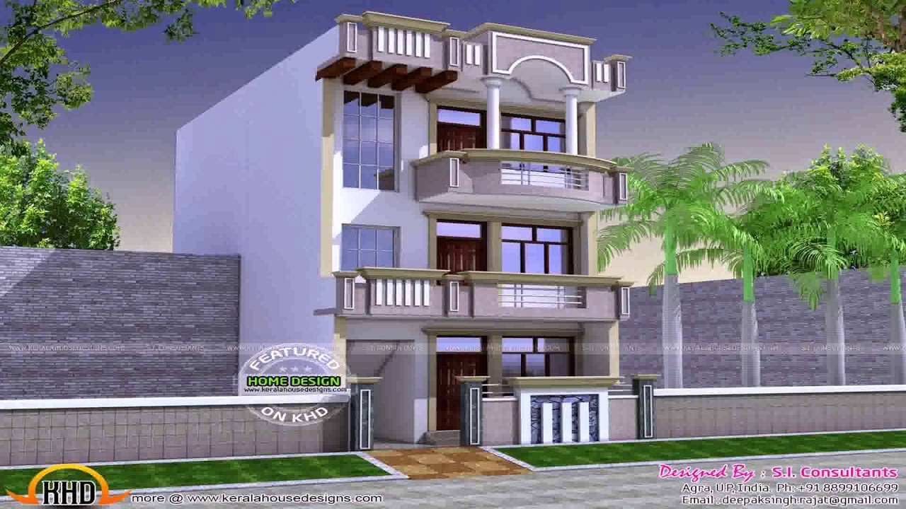 Sample Front Elevation Map : Indian small house map design sample youtube