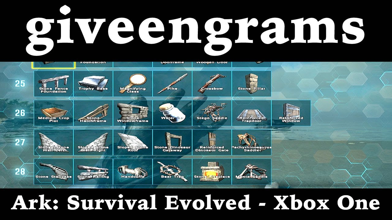 admincheat giveengrams - Ark: Survival Evolved - Xbox One