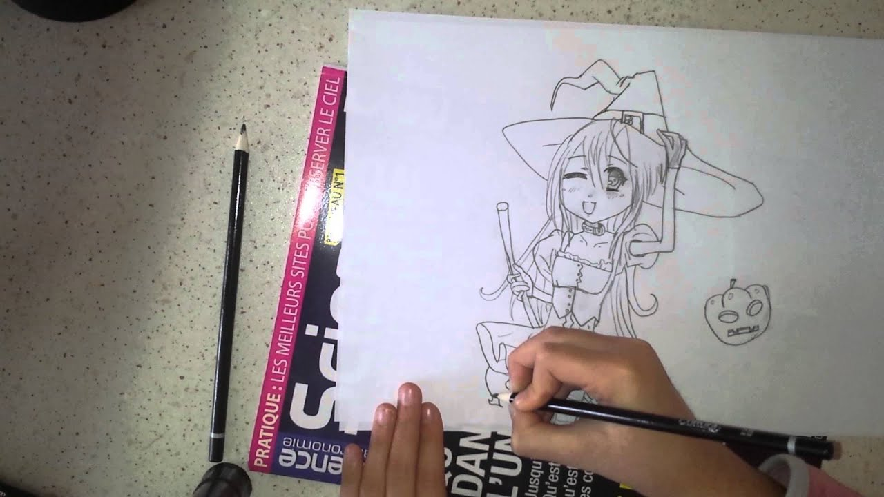 Dessin Manga Fille 5 Spécial Halloween Youtube