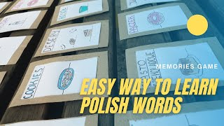 Learn how to speak Polish words with a game   Memory