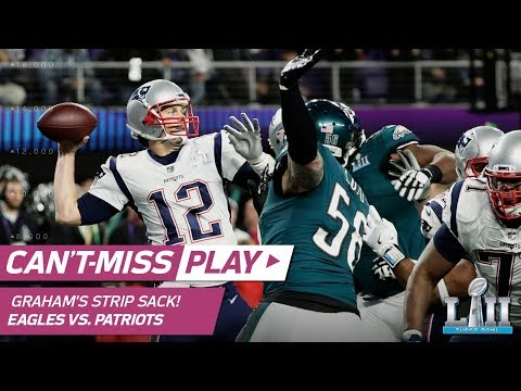 Brandon Graham's Strip Sack on Tom Brady for 1st TO of Game! | Can't-Miss Play | Super Bowl LII