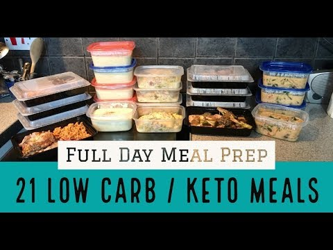 21 Low Carb// Keto Freezer Meal Prep Day! All Meals under 15 Carbs