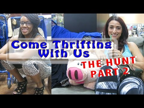 Goodwill Centennial THE HUNT Part 2 Try On Preview Come Thrifting With Us #ThriftersAnonymous
