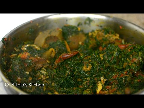 How to Make Nigerian Efo Riro - Spinach Stew