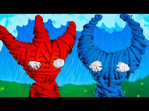 ВЯЗАНЫЙ КОТЕНОК и Кид #1 Приключение красного и синего котика на канале пурумчата