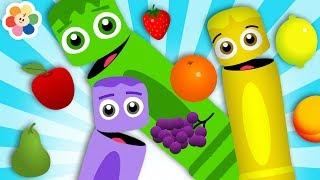 ¡Aprende los Colores En Español! | Colores de Las Frutas | Pandilla de Colores y Amigos | BabyFirst