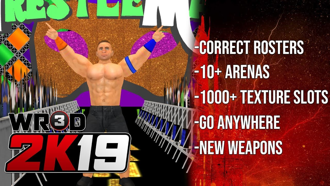 WR3D 2K19 by HHH Fixed Android Version- Link in Description