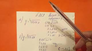 262 Алгебра 9 класс. Найдите область определения функции