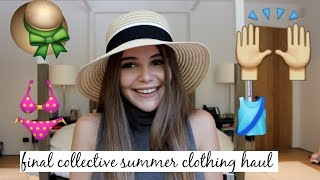 HUGE COLLECTIVE (FINAL) SUMMER CLOTHING HAUL // OLIVIA JADE
