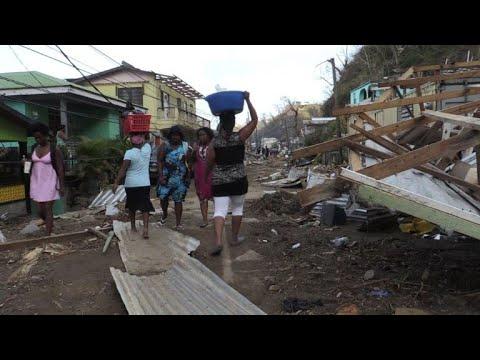 Dominica islanders begin to rebuild after Hurricane Maria