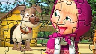 Маша и Медведь ДРУЗЬЯ ВСЕГДА ВМЕСТЕ собираем пазлы для детей с героями мультика Маша и Медведь