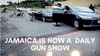 Brazen DAYLIGHT Gun ATTACK, caught on CCTV - Teach Dem