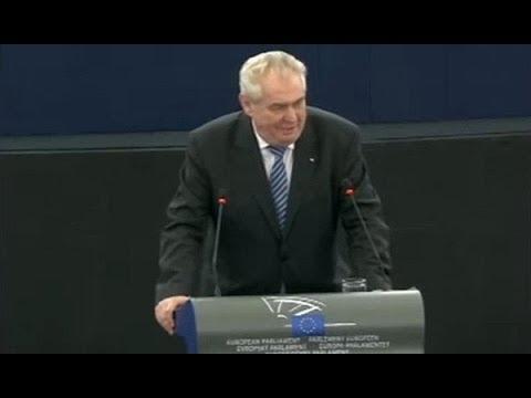 Czech President in The European Parliament FULL SPEECH Bubble bum