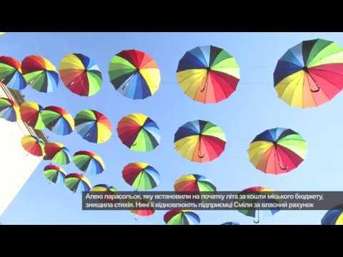 Телеканал АНТЕНА: Алея парасольок у Смілі  Дубль два