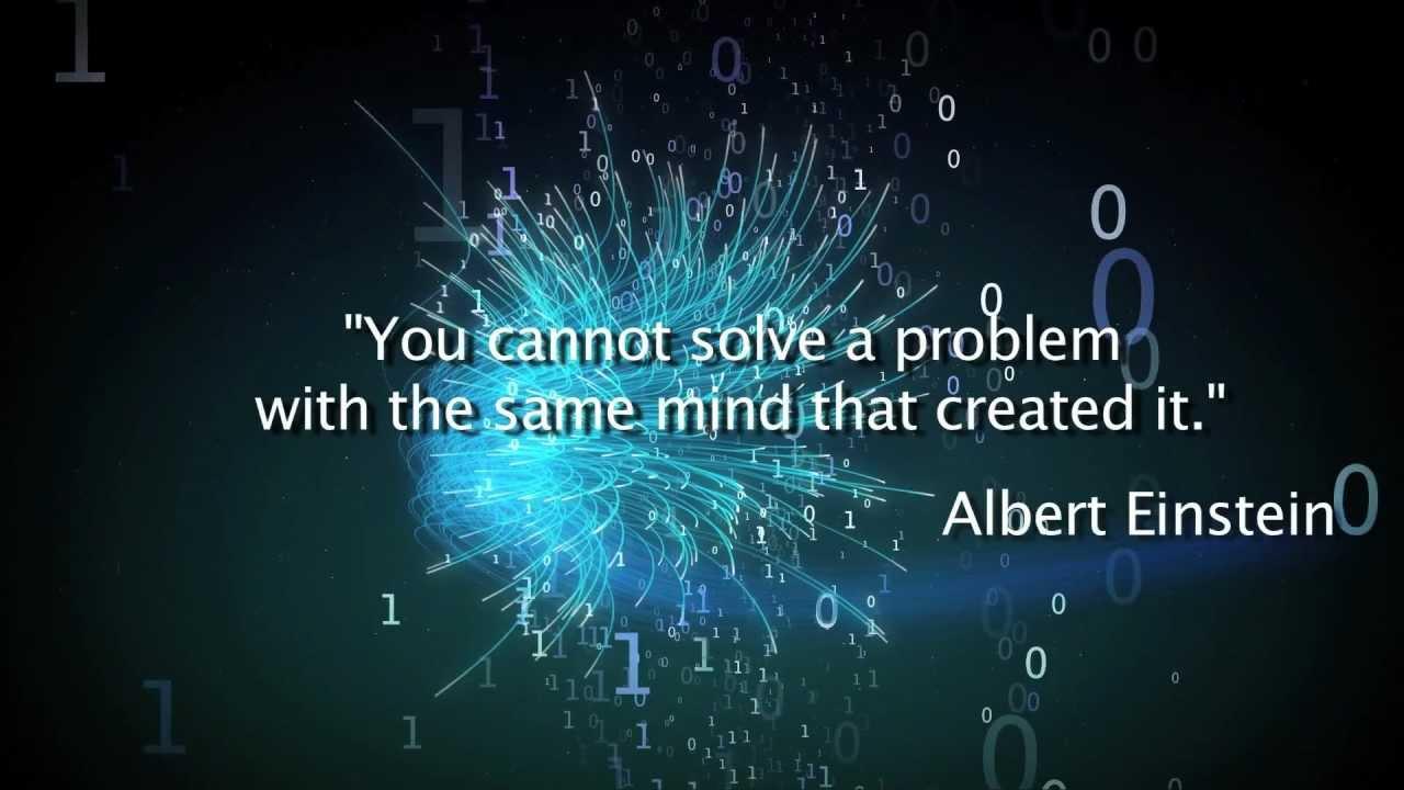 einstein quote problem solving