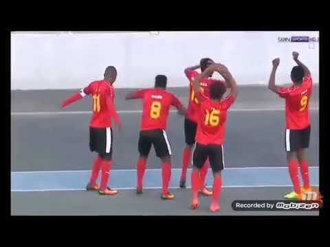 Golo de Angola contra a Nigeria CHAN 2018