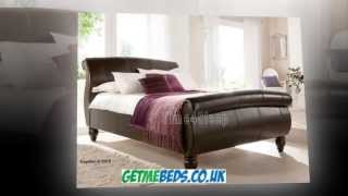 Leather Sleigh Bed - The Verona By Kaydian