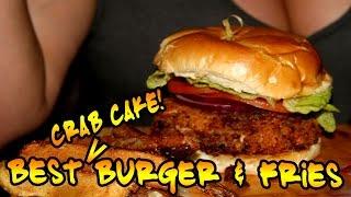 Best Burger & Fries - Incredible Crab Cake Burger at Dulcet!