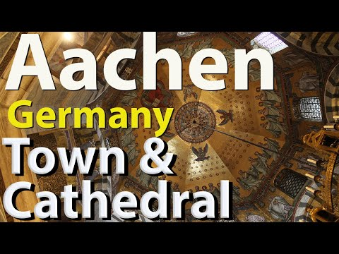 Aachen, Germany, historic center and cathedral