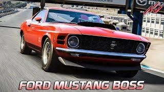 Ford Mustang BOSS 429 - Mod | Assetto Corsa German Gameplay [GER] [VR] Laguna Seca