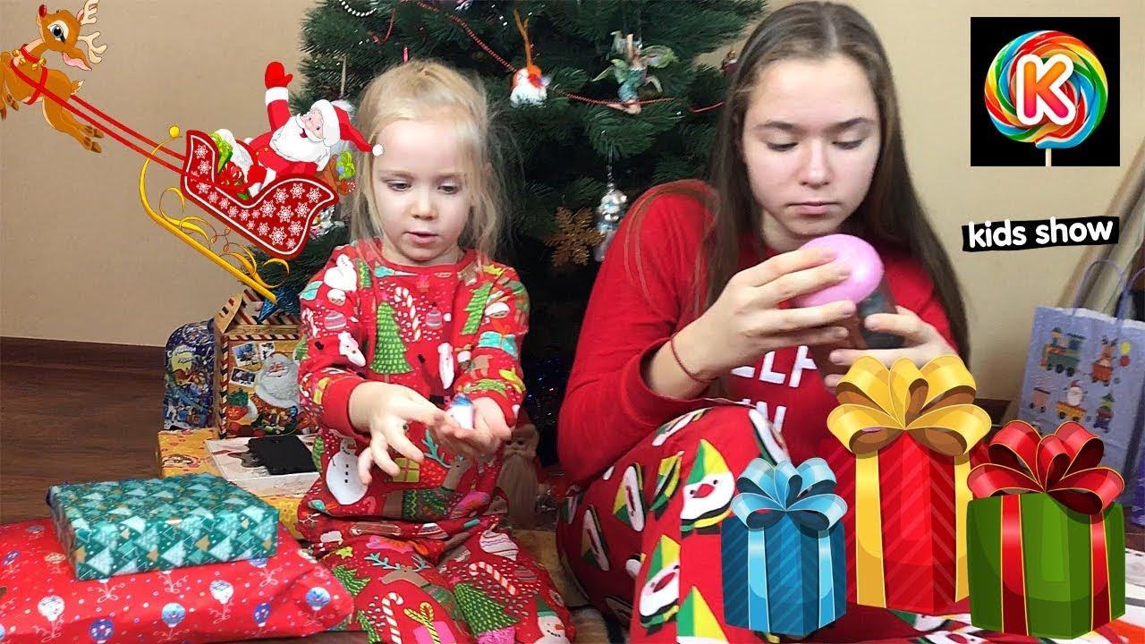 Подарки на новый год Что подарили Кате и Ане У кого лучше подарок