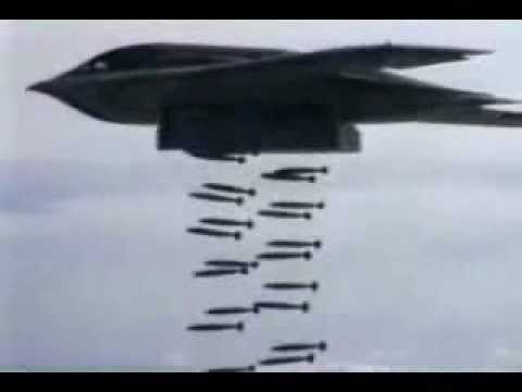 B-1 B-2 & B-52 Doing Heavy Carpet Bombing