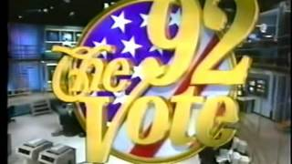 Election Night 1992 ABC News Coverage