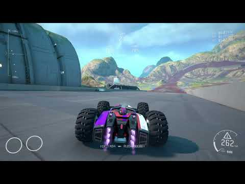 I've perfected the exit... oh great, pile of cars - GRIP Combat Racing  