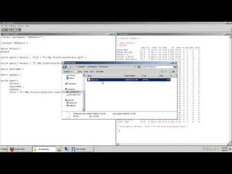 60 how to output or export data frames in r to a sas transport file dot xpt with the write xport fun