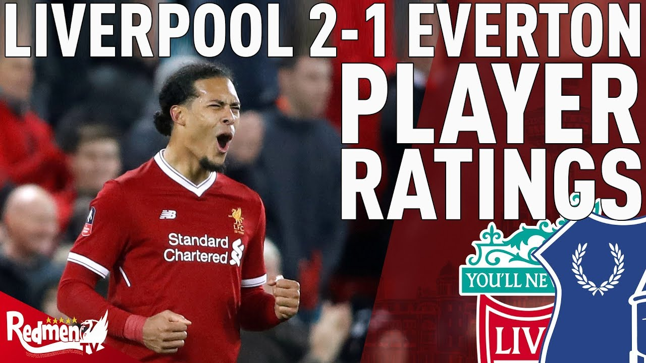 Van Dijk Gets A 10! | Liverpool v Everton 2-1 | Player ...