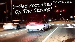 9-Sec Porsches On The Street! 997 vs. 991 Showdown