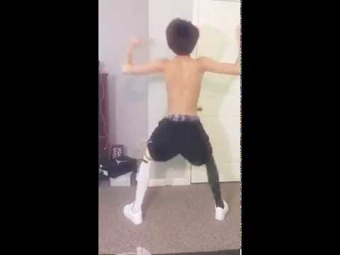 Asian boy dancing