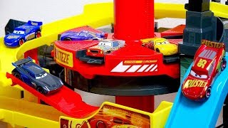 Disney Cars 3 Toys Movie Cars tomica Rotary elevator Racing center.