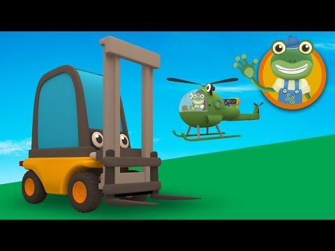 Florence The Forklift Truck Visits Gecko