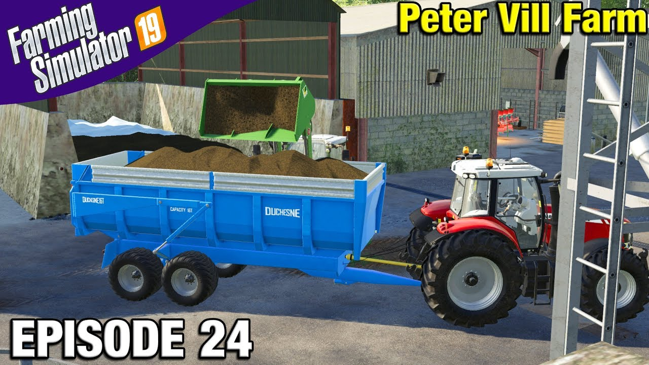 LOADING SILAGE Farming Simulator 19 Timelapse - Peter Vill Farm FS19  Episode 24